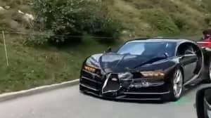 Bugatti Chiron And Porsche 911 Crash Trying To Overtake Motorhome