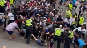 Ticketless Fans Attempt To Storm Into Wembley Ahead Of Euro 2020 Final