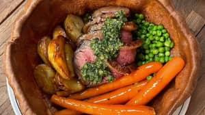 Sydney Pub Serves Entire Roast Dinner Inside A Giant Yorkshire Pudding
