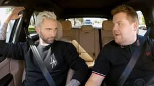 James Corden And Adam Levine Get Pulled Over Cop During 'Carpool Karaoke'