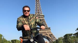 Arnold Schwarzenegger Photobombs A Group Of Thai Tourists In Paris