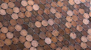 Barber Does His Own Flooring Using 70,000 1p Coins