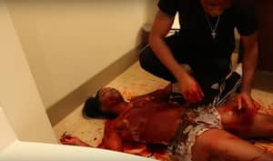 Girlfriend Pranks Her Fella Into Thinking She's Been Brutally Butchered