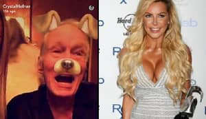 Hugh Hefner Responds To 'Dead Rumours' With Snapchat With His Wife