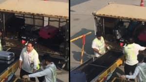 Reckless Baggage Handlers Filmed Tossing 'Beloved' Luggage At Airport
