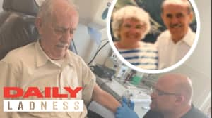 Granddad Gets Tattoo Of His Late Wife After Wanting It For 60 Years