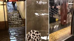 Subways In NYC Were Flooded As Huge Storm Ravaged US North-East