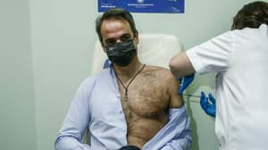 Greek Prime Minister Becomes Unlikely Sex Symbol While Getting Coronavirus Vaccine