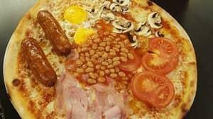 Benidorm Bar Selling Full English Breakfast Pizza