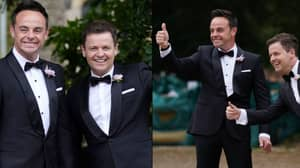 Ant McPartlin Arrives At Church With Best Man Dec To Marry Anne-Marie Corbett