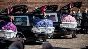Heartbreaking Photo Shows ASOS Tycoon's Three Children Being Laid To Rest