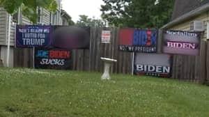 Judge Orders Woman To Take Down 'Vulgar' Anti-Joe Biden Flags From Her Home