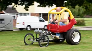 Dad Builds Roadworthy 25mph Adult Version Of Little Tikes Cozy Coupe