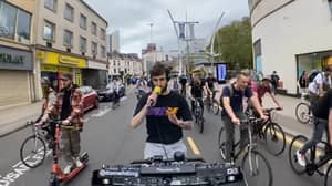 Bloke Goes Viral After Live Streaming DJ Sets From His Bike
