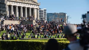 Melbourne Protestors Urinated On The Shrine Of Remembrance And 'Spat' On Vaccine Workers