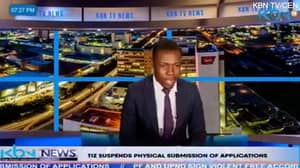 Zambian TV News Anchor Halts Live Broadcast To Claim He Hasn't Been Paid