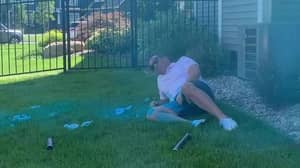 Dad Hit In The Crotch As Gender Reveal Goes Wrong