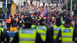 Calls For Victoria Police To Use Water Cannons On Unruly Protestors