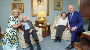 Photo With Jimmy Carter Makes President Joe Biden Appear To Be A Giant