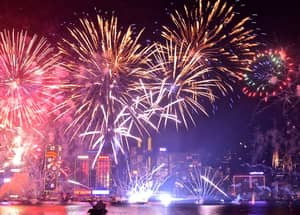 Hong Kong's New Year's Eve Firework Display Was Absolutely Incredible