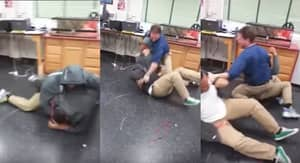 Teacher Takes Two Fighting Students On A Spin Around Arse-Whipping Avenue