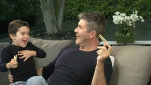 Simon Cowell Interview Gatecrashed By His Own Son