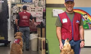 A DIY Store Has Hired An Air Force Veteran And His Dog