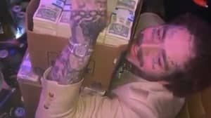 Post Malone Hands Out $50,000 In Cash At Miami Club