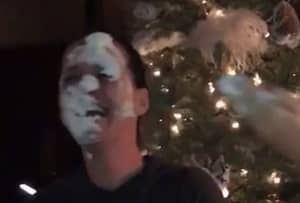 Katy Perry Gets Cream Pie To The Face After Losing Party Game Against Sister