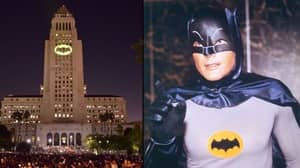 Los Angeles Lights Up City Hall With Bat Signal In Tribute To Adam West