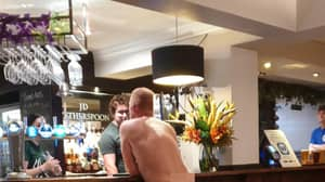 Totally Naked Man Spotted At The Bar In Wetherspoon Pub