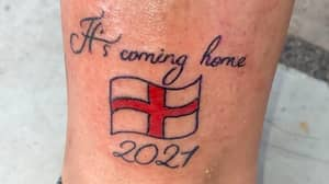 Woman Doesn't Like Football But Gets 'It's Coming Home 2021' Tattoo