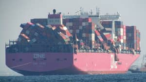 Cargo Vessel Loses 1,816 Shipping Containers Overboard In Rough Pacific Weather
