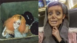 Angelina Jolie 'Lookalike' Shares Creepy Halloween Look