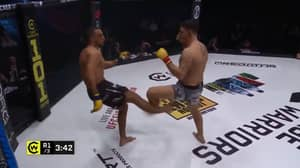 Cage Fighter Breaks Leg In Horrific Kick Gone Wrong