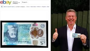 Troll Posts 'Upside-Down Printed Fiver' On eBay To See How Gullible People Are