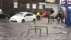 London Flooded After Torrential Rain Hits The Capital