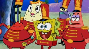 SpongeBob SquarePants Makes Appearance At Super Bowl Half Time Show