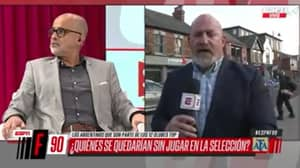 Man Moons At Camera During Discussion On New European Super League