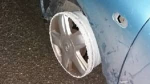 Drunk Driver Six Times Over The Limit Caught Driving With No Front Tyres