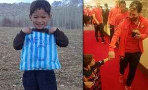 Kid Who Made Messi Shirt Out Of Plastic Bag Finally Meets His Idol