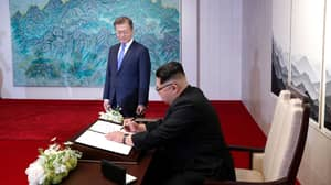 Kim Jong-un Writes 'New History Starts From Now' In Peace House Guest Book