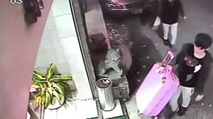 Footage Shows Taiwanese Man Allegedly Carrying Dead Girlfriend In Suitcase