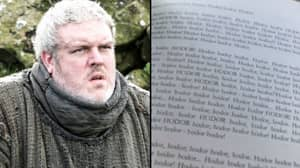 Hodor Has An Autobiography And It's A 'Beautiful, Heartbreaking, Funny' Read