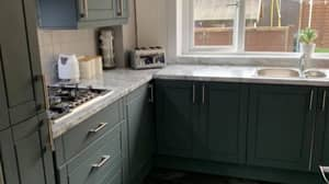 Woman Transforms Kitchen For Just £120 Using Paint And Vinyl