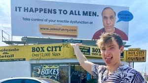 Guy Pranks Dad With Billboard Turning Him Into 'Face Of Erectile Dysfunction'