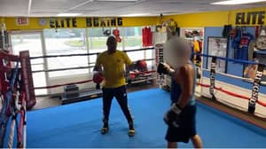 Bully Steps In A Boxing Gym And Challenges The Boxing Coach