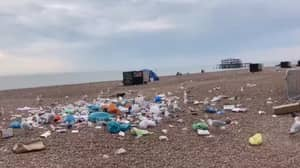 Britain's Beaches Littered With Huge Piles Of Rubbish As Temperatures Soar