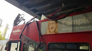 Make Your Own Jokes As A London Bus With Specsavers Ad Crashed Into Bridge