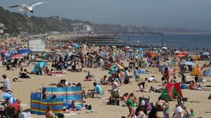 Thousands Flock To UK Beaches To Soak Up The Sun